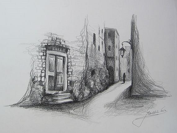 Art: Old Street by Artist Ewa Kienko Gawlik