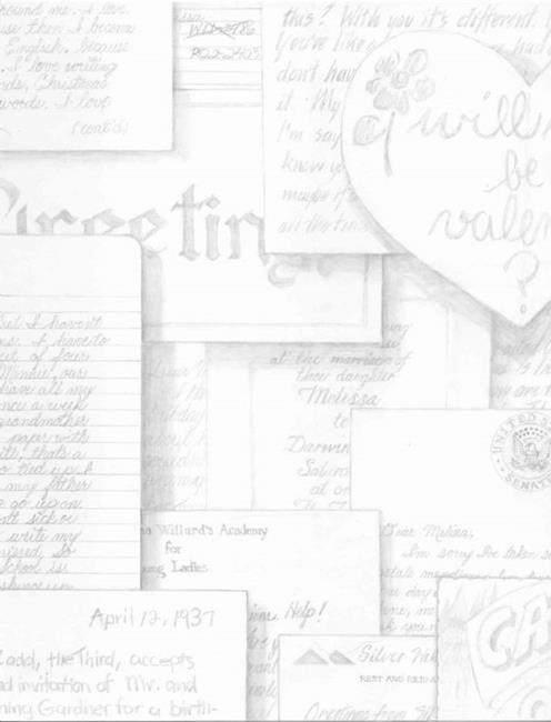Art: Love Letters by Artist Madeline  Carol Matz
