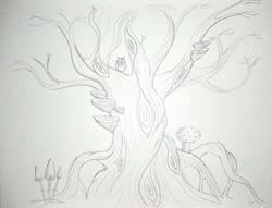 Art: Twisty Tree sketch by Artist Jane Glenholmes
