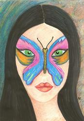 Art: Butterfly Woman by Artist Nata ArtistaDonna