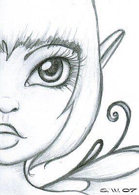 Simple fairy sketches drawings sketch coloring page