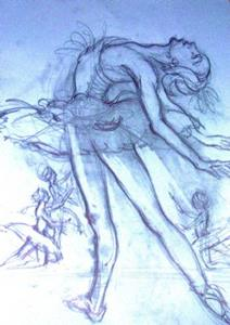 Detail Image for art Drawing of the ballerina