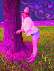 Art: Hunting For Valentines by Artist Sherry Key