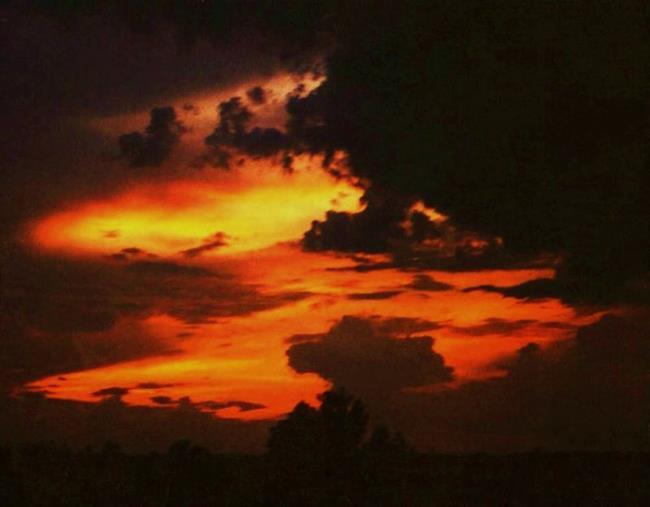 Art: Hidden Sunset by Artist Paula M Parker