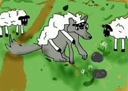 Art: Wolf In Wool by Artist Confuzzled Shannon