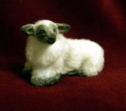 Art: Alpaca Furred Lamb by Artist Camille Meeker Turner