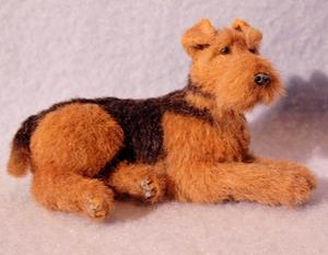 Detail Image for art Alpaca Furred Airedale Terrier