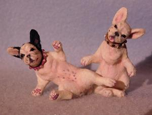 Detail Image for art Pair Of French Bulldogs, Pearl and Piper
