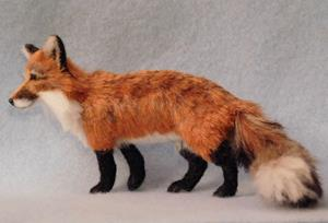 Detail Image for art Bamboo & Silk Furred Red Fox