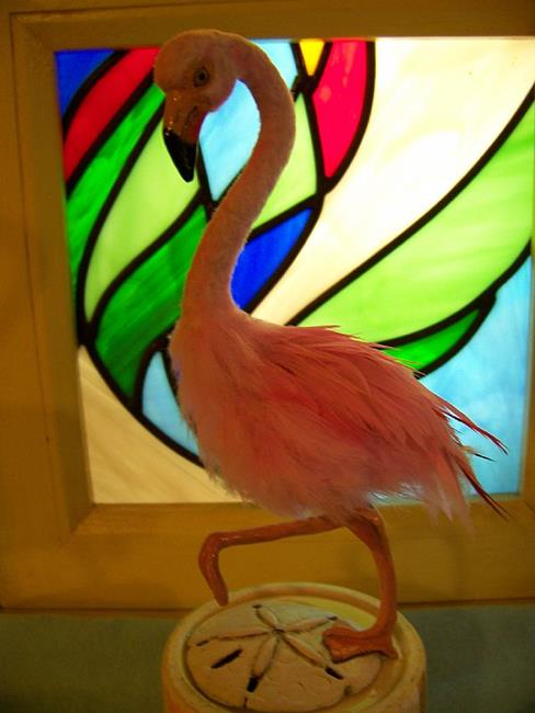 Art: Pink Flamingo by Artist Camille Meeker Turner