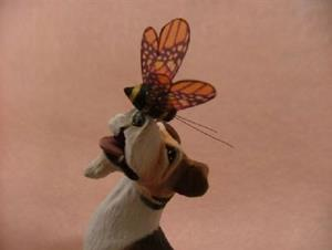 Detail Image for art Wire Fox Terrier & Bumble Bee