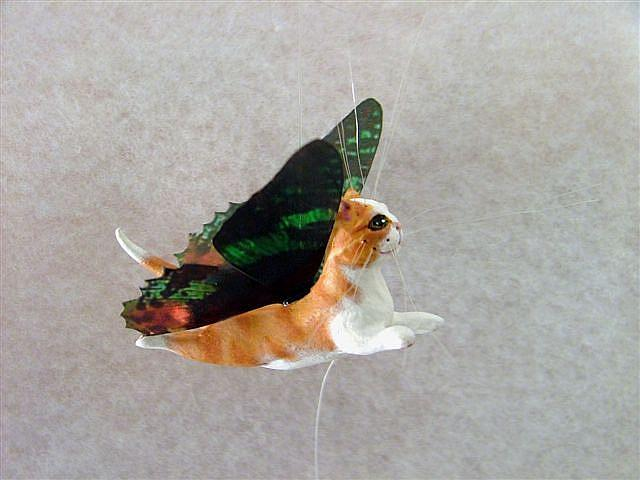 Art: Orange Tabby Flutterby by Artist Camille Meeker Turner