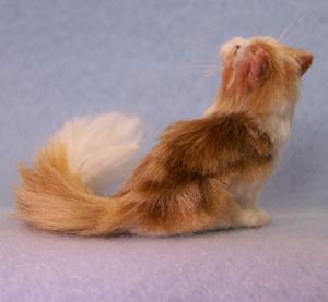 Detail Image for art Silk Furred Orange Tabby Cat
