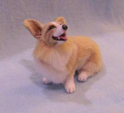 Art: Silk Furred Welsh Corgi by Artist Camille Meeker Turner