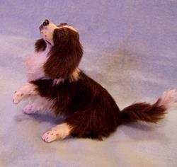 Art: Silk Furred Springer Spaniel by Artist Camille Meeker Turner