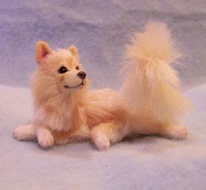 Detail Image for art Silk Furred Pomeranian