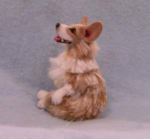 Detail Image for art Silk Furred Corgi