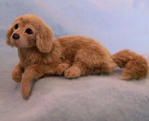 Detail Image for art Silk Furred Golden Retriever Puppy