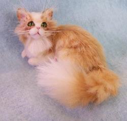 Art: Silk Furred Orange Tabby Cat by Artist Camille Meeker Turner