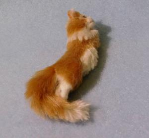 Detail Image for art Silk Furred Napping Cat