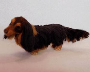 Detail Image for art Silk Furred Long Haired Dachshund