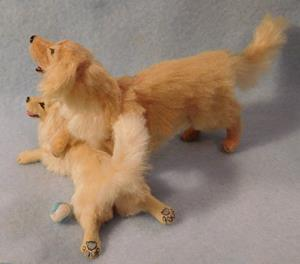 Detail Image for art 1/12th Scale Golden Retriever and Pup