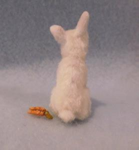 Detail Image for art Silk Furred White Bunny Rabbit