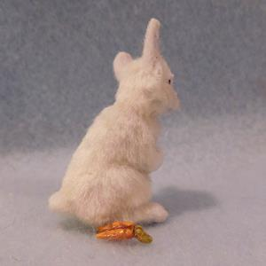 Detail Image for art Silk Furred White Bunny Rabbit