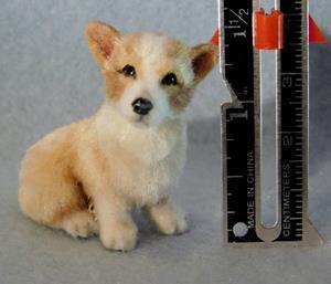 Detail Image for art Silk Furred Corgi Puppy