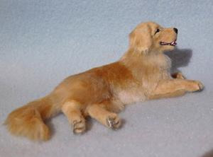 Detail Image for art Silk Furred Golden Retriever
