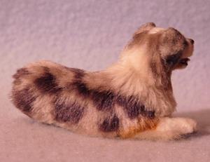 Detail Image for art Silk Furred Blue Merle Australian Shepherd, 1/12th Scale