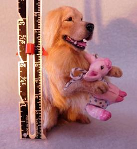 Detail Image for art Golden Retriever & Piggy