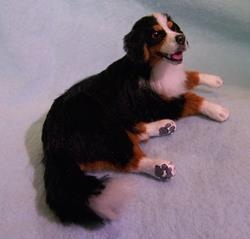 Art: Silk Furred Bernese Mountain Dog by Artist Camille Meeker Turner