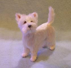 Art: Silk Furred Westie by Artist Camille Meeker Turner