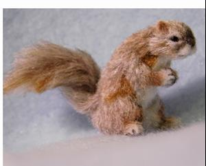 Detail Image for art Silk Furred Squirrel