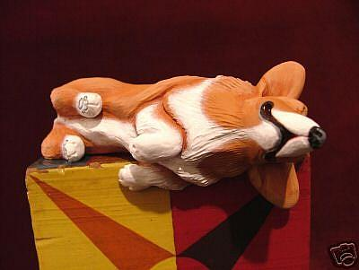 Art: Shelf Sitter Corgi, 1st in Series by Artist Camille Meeker Turner