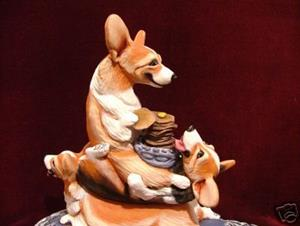 Detail Image for art A Short Stack of Corgi's Enjoy a Tall Stack of Pancakes!