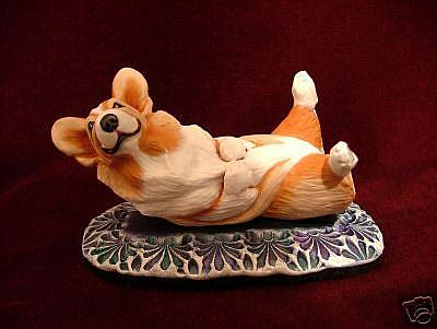 Art: Young Corgi on Time-Out Naughty Mat by Artist Camille Meeker Turner