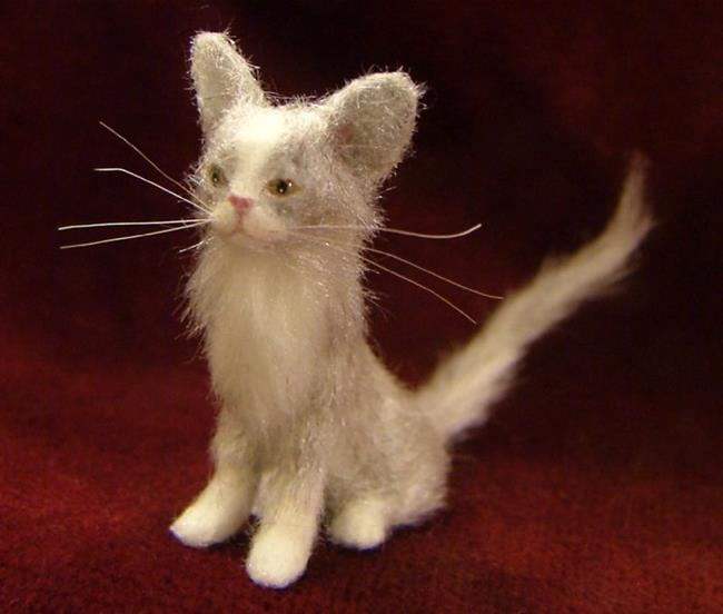 Art: Furry Cat, Wendy by Artist Camille Meeker Turner