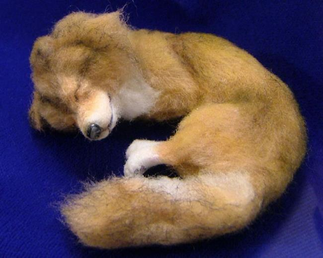 Art: Furred Collie Pup by Artist Camille Meeker Turner