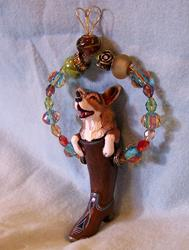 Art: Corgi In Cowboy boot II by Artist Camille Meeker Turner