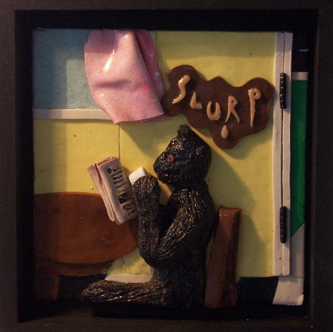 Art: Slurp(6) by Artist Amy J Hipple