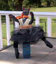Art: OOAK Dancing Black Cat Art Doll  by Artist Lisa M. Nelson