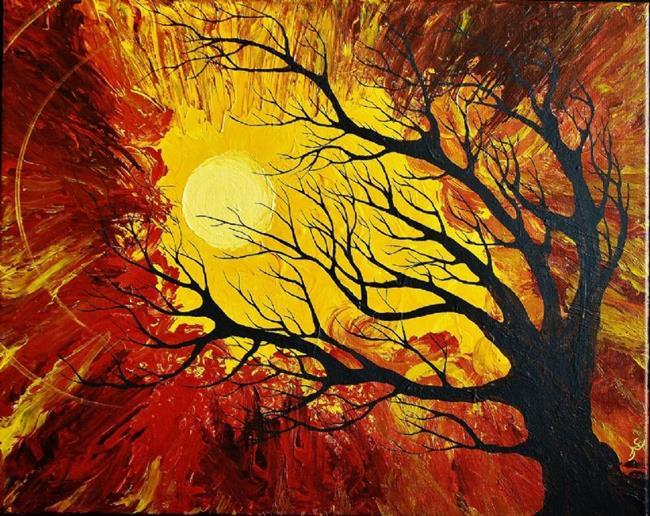 Art: The Radiant Warmth (sold) by Artist Amber Elizabeth Lamoreaux