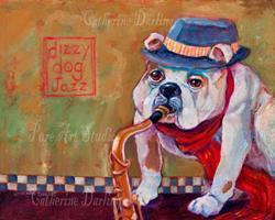 Art: Dizzy Dog Jazz by Artist Catherine Darling Hostetter