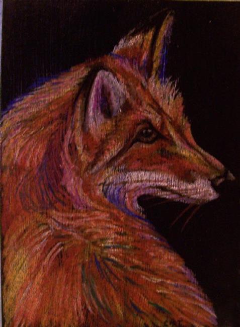 Art: Red Fox by Artist Camille Meeker Turner