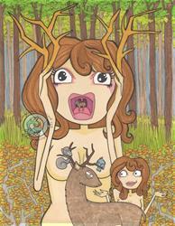 Art: Oh Deer! by Artist Emily J White