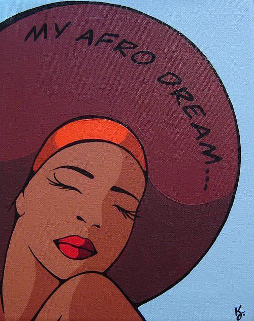 Art: My Afro Dream... by Artist Kris Jean