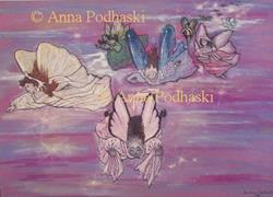 Art: Flight of the Fairies by Artist Anna Podhaski