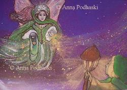 Art: A Fairy Blessing by Artist Anna Podhaski